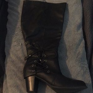 Torrid Knee High Boots w/Lace-up Detail